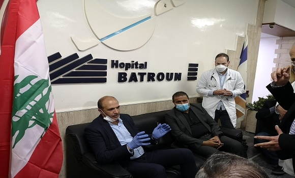Minister Hasan Concludes His Tour of North Lebanon with A Visit To Batroun Hospital